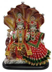 Paras Magic Vishnu Lakshmi Idol (9X4.X12.5 inch)