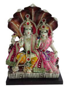 """Prasa Magic Vishnu Lakshmi Idol(9X4.X12.5"""")"""