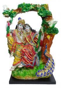 "Paras Magic Radha Krishan Ji Idol Showpiece (15X7.5X17.75 "")"
