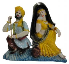 "Paras Magic Rajasthani Couple (Yellow)(10.62x410.23"")"