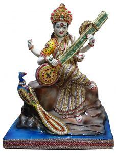 "Paras Magic Saraswati Idol(17.71x14.17x24.80"")"