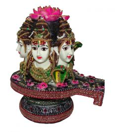 "Paras Magic Three Face Shivling Idol(10x8.75x10.5"")"