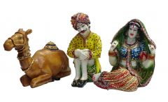 "Paras Magic Rajasthani Set Showpiece(11.81x13.38x9.84"")"