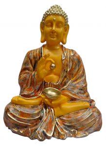 "Paras Magic Dhyan Buddha Showpiece Orange(12X8.25X16"")"