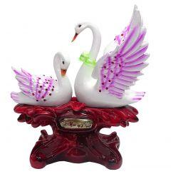 """Paras Magic White Duck Pair Showpiece(10.75X7X12.5"""")"""