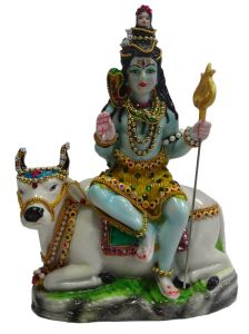 "Paras Magic Shiv Idol Sitting On Nandi(7.5X4X10"")"
