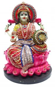"Paras Magic Lakshmi Idol Red & Blue(9X9X13"")"