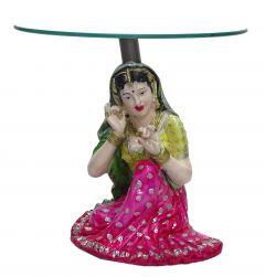 "Paras Magic Rajasthani Lady Table(12X12X11"")"