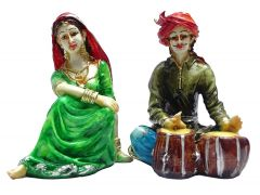 "Paras Magic Rajasthani Couple Green & Red(10X4.75X5.5"")"