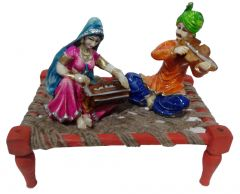 "Paras Magic Rajasthani Sitting on Charpai(11X7X9.5"") K2"