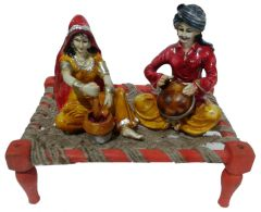"Paras Magic Rajasthani Sitting on Charpai(11X7X9.5"") K3"