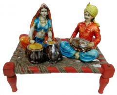 "Paras Magic Rajasthani Sitting on Charpai(11X7X9.5"") K4"