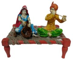 "Paras Magic Rajasthani Sitting on Charpai(11X7X9.5"") K5"