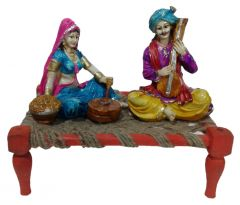 "Paras Magic Rajasthani Sitting on Charpai(11X7X9.5"") K7"
