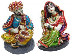 "Paras Magic Rajasthani Couple(5X4.5X6.5"")"