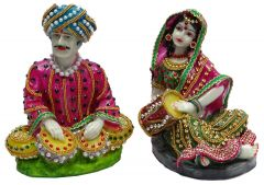 "Paras Magic Rajasthani Couple 2(5X4.5X6.5"")"