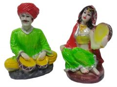 Paras Magic Rajasthani Couple Showpiece1 (5.5x4x7 inch) 2 Aprox