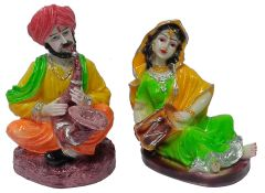 Paras Magic Rajasthani Couple Showpiece3 (5.5x4x7 inch) 2 Aprox