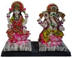 "Paras Magic Lakshmi Ganesh Idol(9.84x4x7.87"") PC"