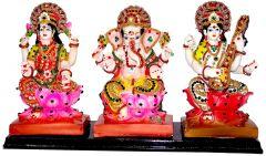 "Paras Magic Lakshmi Ganesh Saraswati Idol(13x4x7.87"")"