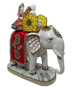 "Paras Magic Mahaveer Swami Sitting On Elephant(13.75X7X19"")"