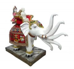 "Paras Magic Mahaveer Swami Sitting On Elephant(16.5X6.25X14.25"")"