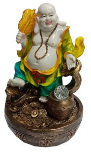 Paras Magic Laughing Buddha Fountain (12x8.75x20 inch)