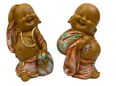 Paras Magic 2Pcs Buddha Happy Man (4.5x3.5x7) Inch