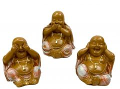 Paras Magic Happy Man Buddha 3 pcs set (3.x3x3) Inch