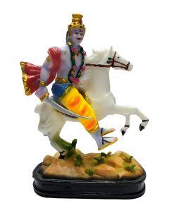 PARAS MAGIC KAAL BHAIRAV SITTING ON HORSE (7x3x9 inch)