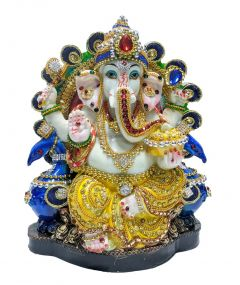 PARAS MAGIC PEACOCK GANESH JI (8x5x10 inch )