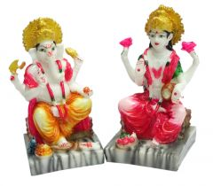 "Paras Magic Lakshmi & Ganesh Idol(4X4X7"")"