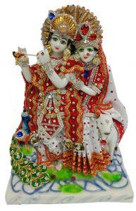 Paras Magic Radha Krishna Ji with Peacock (9X5.5X13 inch)