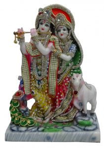 "Paras Magic Radha Krishna Idol 2(9x5.5x13"")"