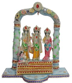 Paras Magic Beautiful Marble Ram Darbar idol(18.5X8.25X20.5 inches)