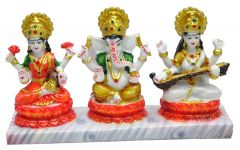 "Paras Magic Beautiful Lakshmi , Ganesh and  Saraswati Idol(11.5X3X6.5"")"