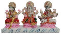 Paras Magic Beautiful Lakshmi, Ganesh and Saraswati JI (11.5X3X6.5 inch)