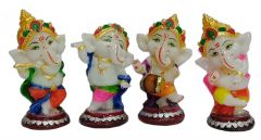 Paras Magic Dancing Baby Ganesh Set of 4 Pcs. (2.5x2.5x5.5 inch)