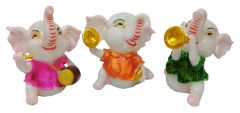 Paras Magic Dancing Baby Elephant (7x3.5x8 inch,6x7x8 inch,7x5.5x7.5 inch)
