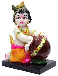 """Paras Magic Marble Krishna Idol(6X4X7.5"""")"""