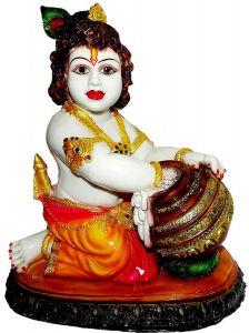 "Paras Magic Makhan Chor Krishna MCK3(12.25X8.75X14.25"")"