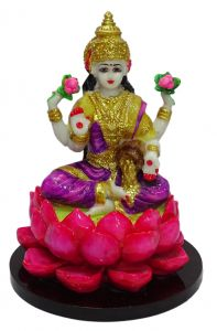 "Paras Magic Lotus Lakshmi Idol(8X8X11.5"")"