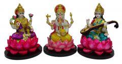 "Paras Magic Lakshmi Ganesh Saraswati Idol(8X8X11.5"")"