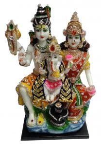 Paras Magic Shiv Parivar Idol (10.5X8.75X18 inches)