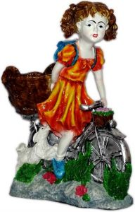 "Paras Cycle Girl Showpiece(11.5x16x6"")"