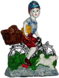 "Paras Cycle Boy Showpiece(12.5x16x5"")"