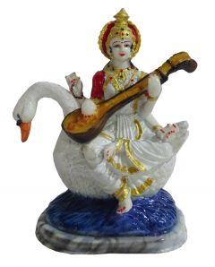 "Paras Magic Hans Saraswati Idol(7.5x9.5x4.7"")"