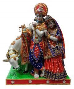 Paras Magic Cow Radha Krishna Ji (20x14x26 inch)