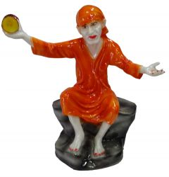 "Paras Magic Orange Sai Baba Idol(18X9X18.5"")"