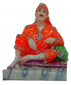 Paras Magic Sitting Sai Baba (7X5.25X8.75 inch)
